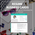 A Resume Business Card is the #1 Networking Tool for Job Opportunities!
